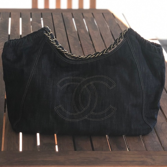 0efe79acabb5d0 CHANEL Bags | Denim Xl Giant Coco Cabas Tote Bag | Poshmark